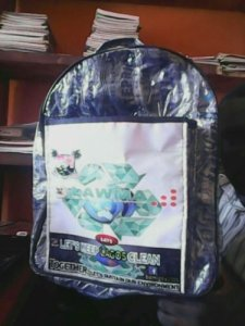 Man Uses Pure Water Nylon To Make Bags, Shoes, Rain Coats & Others In Lagos