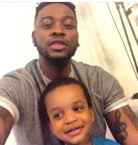 #BBnaija: See Teddy A's son wearing campaign t-shirt to support for his father (Photos)