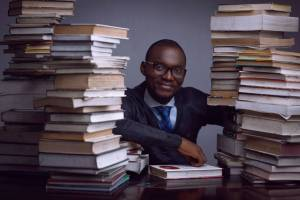 """#ReadwithBayode: Nigerian man to break the Guinness World Record in the """"Longest Marathon Reading Aloud"""" Category in Lagos (Photo)"""