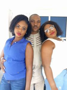 Nigerian man shows off his two wives (Photos)