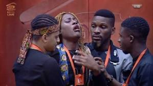#BBNaija: See As Alex Cried Uncontrollably As Leo Gets Evicted From The House (Photos)