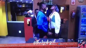 #BBNaija: Teddy-A Squeezes Alex Breasts For Grabbing His Manhood (Video)