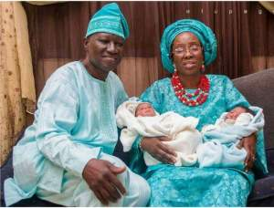 57-year-old Nigerian Woman Gives Birth To Twins (Photos)