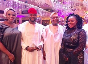 Singer, Omawunmi Rocks The Trending 'N40 Million' Hair To Dangote's Daughter's Wedding (Photos)