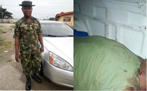 Soldier killed by policeman in Delta state (Graphic Photos)