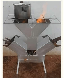 Check Out This New Unique Fire Wood Cooking Stove Invented By A Nigerian (Photo)