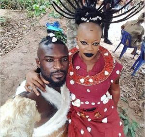 See Viral Photos Of Nigerian Nollywood Acting 'Black Panther' Movie (Photos)