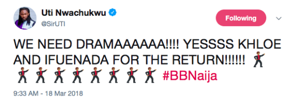 , #BBNaija: Don Jazzy & Uti Nwachukwu reacts to plan to return two evicted housemates, Effiezy - Top Nigerian News & Entertainment Website