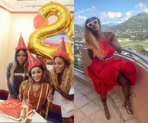 DJ Cuppy Throws Surprise Birthday Party For Her Manager Birthday In Dubai (Photo)