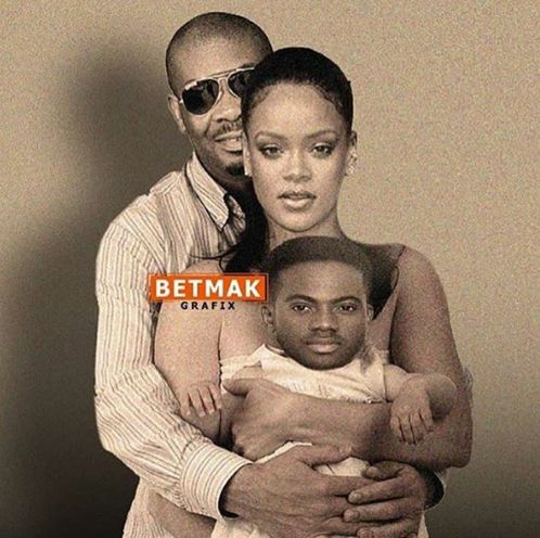 , See Don Jazzy And Rihanna Carrying Korede Bello In Family Photo (Photo), Effiezy - Top Nigerian News & Entertainment Website