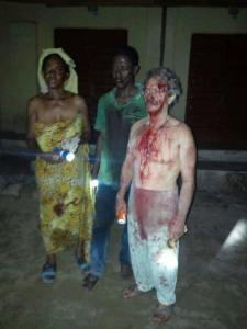White Man And His Family Attacked By Armed Robbers In Sapele, Delta State (Photos)