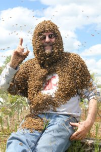 See this professor teaching students with Bees all over his body (Graphic Photos)