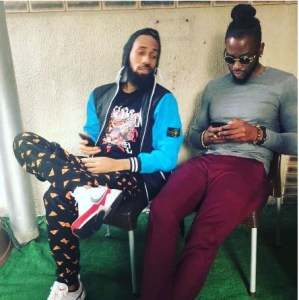 #BBnaija: Teddy A Pictured With Phyno (Photo)