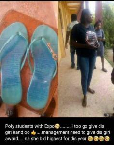 See The Method A Female Student Used To Carry 'Expo' During Exams (Photos)