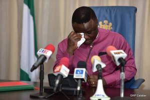 Governor Ayade In Tears, Signs N1.3trn Budget Into Law In Cross River (Photo)