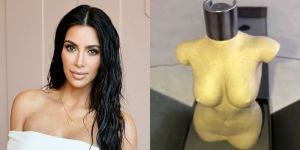 Kim Kardashian shows off her new perfume bottle designed after her naked body (Photo & Video)