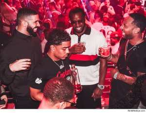 Diddy plays both sides in Drake/Pusha T saga as he parties with Drake