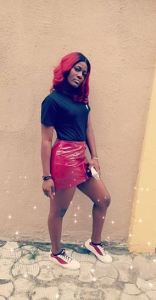#BBNaija: Alex Slays In Red Skirt, Sends Out Controversial Message (Photos)