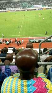 This Man's Head Spotted At Nigeria Vs Atletico Madrid Game That Has Gone Viral (Photo)