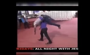 Nigerian Pastor Carries And Slams A Man On The Floor During Deliverance (VIDEO)