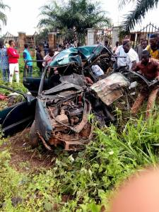 All passengers die in fatal accident in Ohafia, Abia State (Graphic Photos)