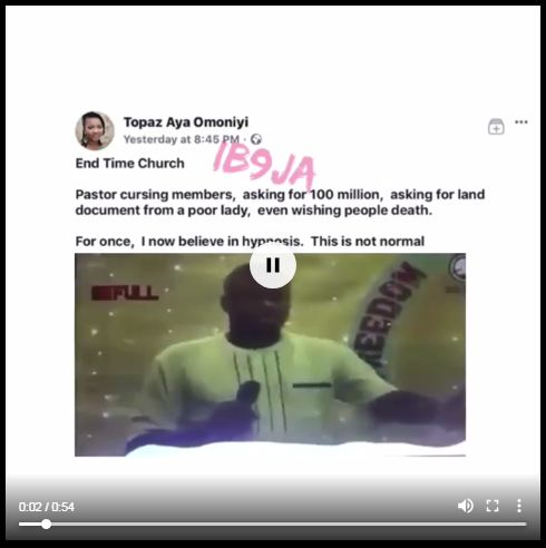 , Prophet Sam Ojo Requests For Plot Of Land Before Deliverance – (Photos, Video), Effiezy - Top Nigerian News & Entertainment Website