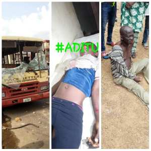 Sadness In Ibadan As Govt Owned Bus Crushes Student To Death (Photo)