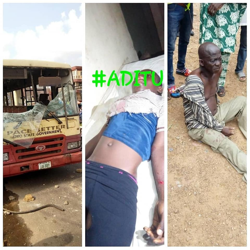 , Sadness In Ibadan As Govt Owned Bus Crushes Student To Death (Photo), Effiezy - Top Nigerian News & Entertainment Website