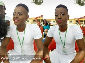 Check out this amazing make-up transformation of a male NYSC corper to a female in Akwa Ibom (Photos)