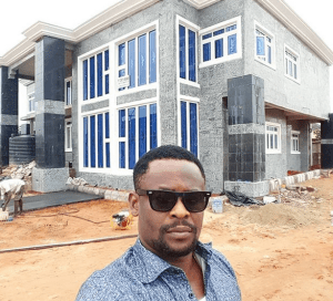 Nollywood Actor, Zubby Michael shows Off His Newly Completed Multi-Million Naira Mansion (Photos)