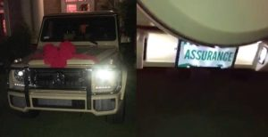 Nigerian Lawmaker, Femi Gbajabiamila Gives His Wife N70m G-wagon With A Customized 'Assurance' Number (Photos & Video)