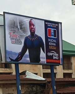 IMO state governorship aspirant uses Black Panther theme as campaign billboard advert (Photo)