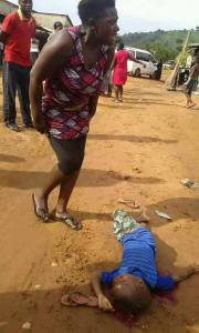 PAINFUL: Mother In Tears As Vehicle Crushes Her Child To Death (Disturbing Photos)
