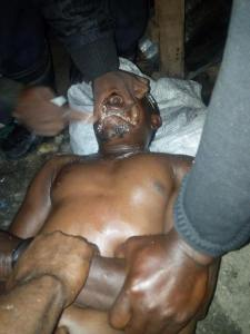 Okada man goes into convulsion after taking Tramadol in Delta State (Photos)