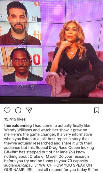 , Drake's father blasts Wendy Williams for her view on Drake and Pusha's T beef, Effiezy - Top Nigerian News & Entertainment Website