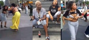 Shameless Nigerian Women Tear Their Clothes, Fight Dirty On The Streets Of London (Video)