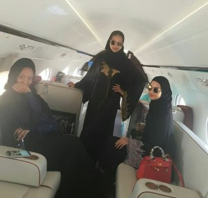 Indimi Daughters Pictured In A Private Jet (Photos)