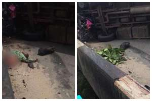 Man Who Just Got Sacked, Crushed Into Two By BRT Bus  (Graphic Photo)