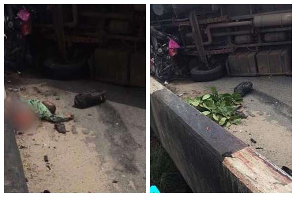 , Man Who Just Got Sacked, Crushed Into Two By BRT Bus  (Graphic Photo), Effiezy - Top Nigerian News & Entertainment Website