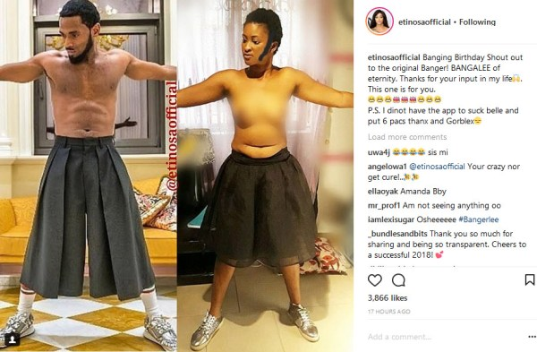 , Nigerian Lady Goes Topless, Recreates Dbanj shirtless Photo (Photos), Effiezy - Top Nigerian News & Entertainment Website
