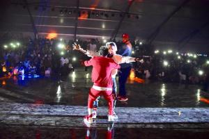 #Ghanameetsnaija:  Wizkid And Shatta Wale Reconciled On Stage (Photos)