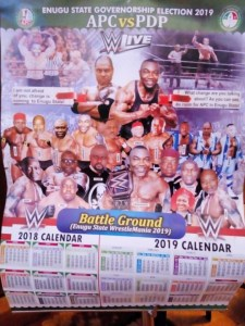Check out this funny battle APC vs PDP poster in Enugu State (Photos)