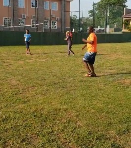Tonto Dikeh Plays Football With Other Kids Fathers At Her Son's School (Video)