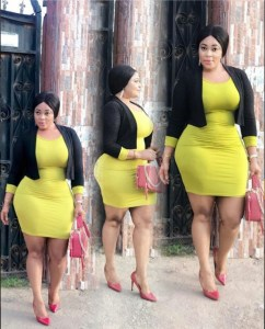 Actress, Biodun Okeowo Shows Off Her Curves In Tight Gown (Photos)