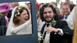 Game Of Thrones!!! Kit Harington And Rose Leslie Tie The Knot In Scotland (Photos)