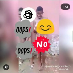 Two Lesbians Caught In Ondo, Molested By UnKnown Men (Video)