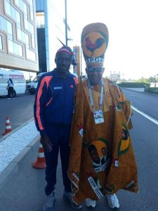 See how an Anambra State Indigene dressed to Nigeria VS Argentina match (Photos)