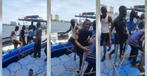 Nigerian Man Who Tried To Commit Suicide, Rescued And Arrested (Video)
