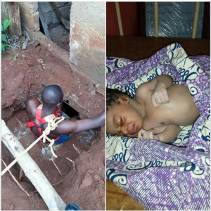 , Mother Throws Her New Born Baby Into A Septic Tank; Baby Rescued (Photo), Effiezy - Top Nigerian News & Entertainment Website