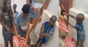 Watch this video of little Taju trying to retrieve bread that was hidden from him (Video)